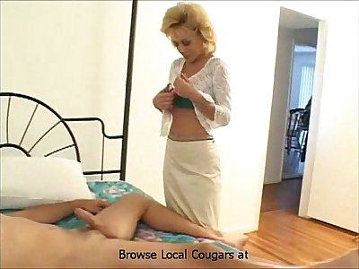 Harassments Hot Cougar in Pantyhose
