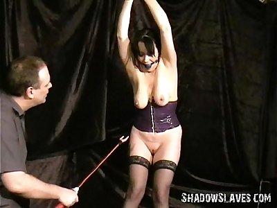 Cattle prod electro torment of mature Bondage & Discipline sub China