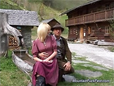 buxomy german Mummy needs hard ass fucking hook-up in the mountains