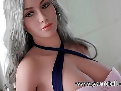 White big breasted female doll utter of temptation