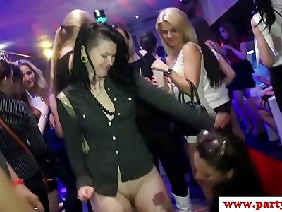 Hottest euro euro unexperienced gobbles shaft on dancfloor