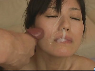 Sexy milf Manami Komukai wild cumshot all-natural