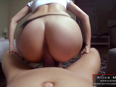 RedHead is Fucking in DoggyStyle By Big Dick! AliceMargo.com