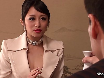 Japanese Business honey gets fucked