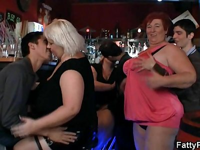 Three fatty join dirty lovemaking party